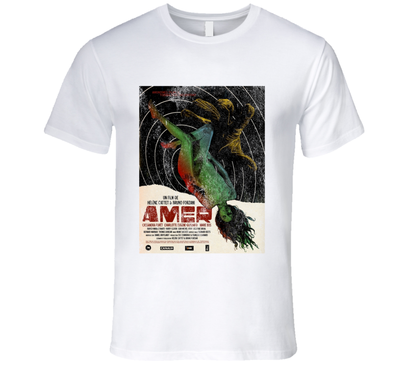 Amer Vintage Scary Movie Poster Halloween T Shirt