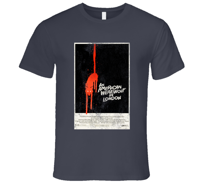 An American Werewolf In London Vintage Scary Movie Poster Halloween T Shirt