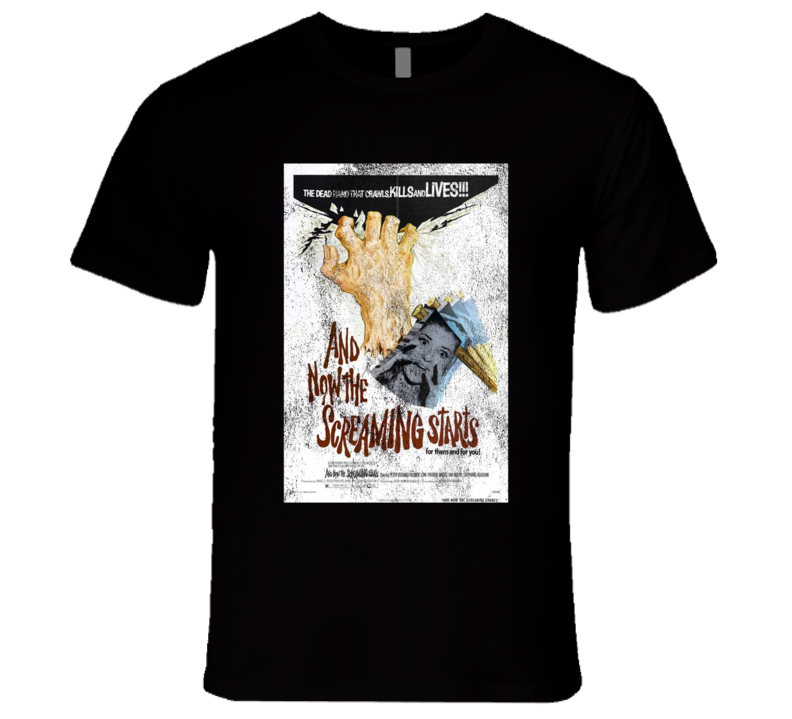 And Now The Screaming Starts Vintage Scary Movie Poster Halloween T Shirt