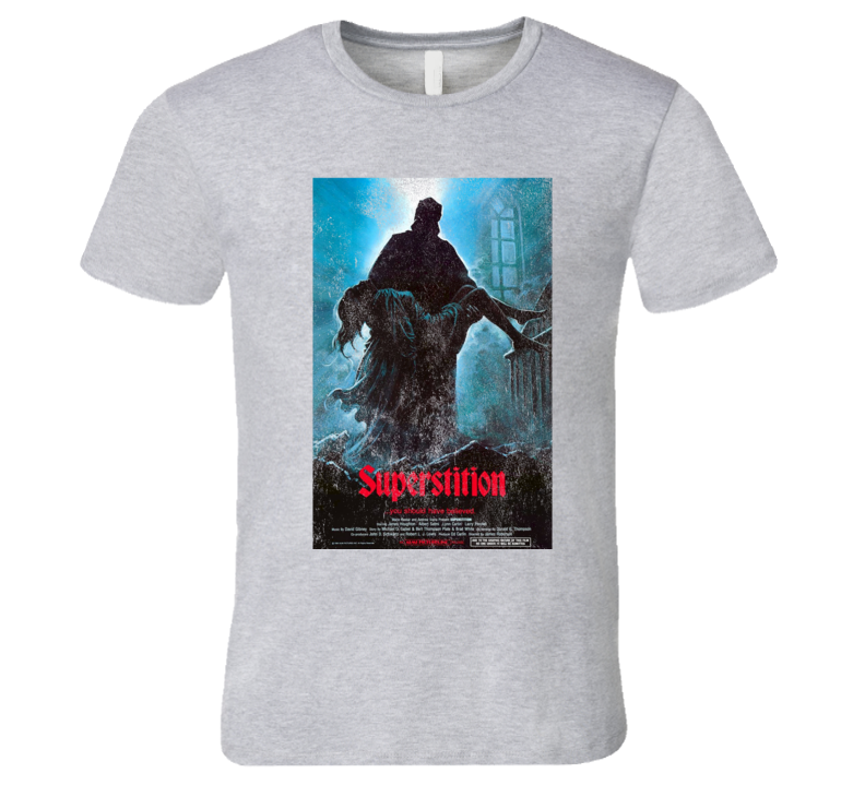 Superstition Vintage Distressed Scary Movie Poster Halloween T Shirt