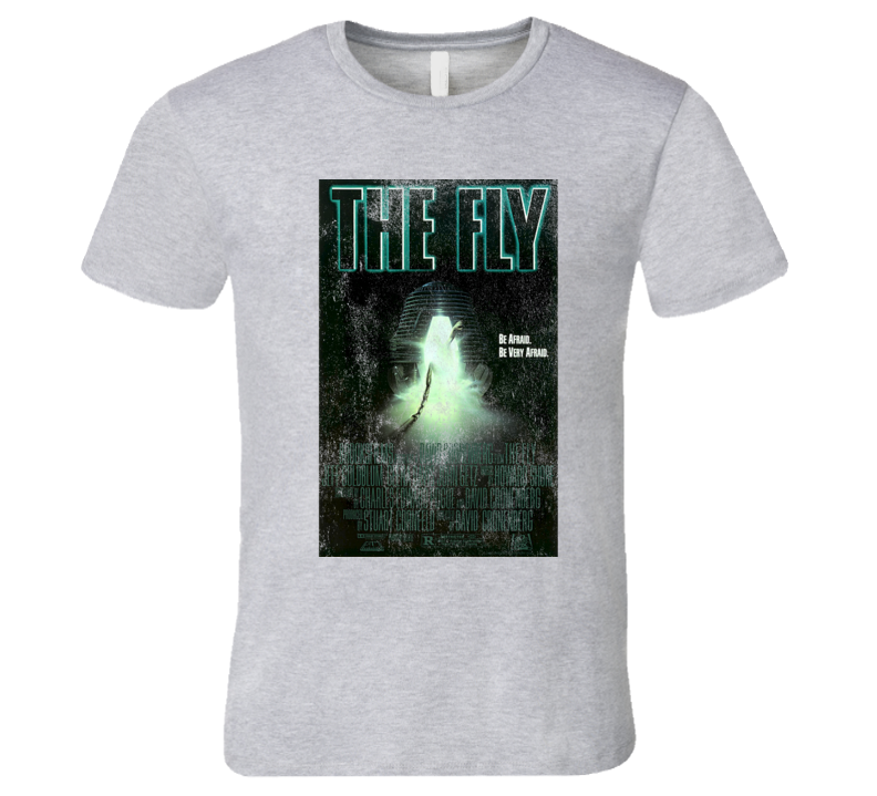 The Fly Vintage Distressed Scary Movie Poster Halloween T Shirt