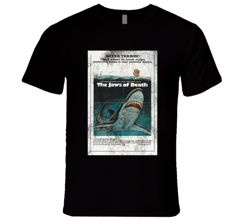 The Jaws Of Death Vintage Distressed Scary Movie Poster Halloween T Shirt