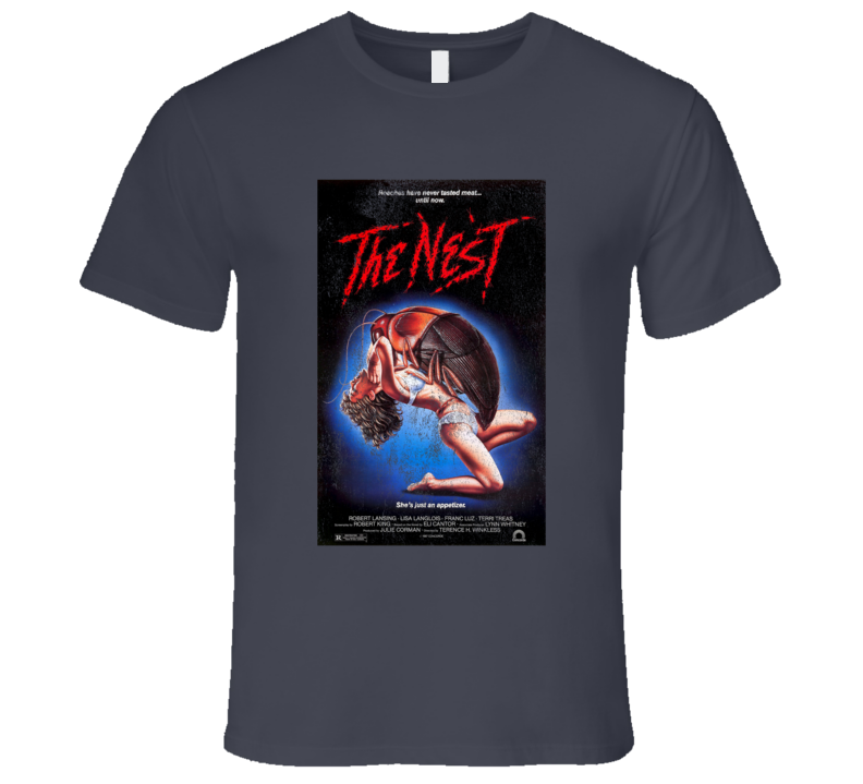 The Nest Vintage Distressed Scary Movie Poster Halloween T Shirt