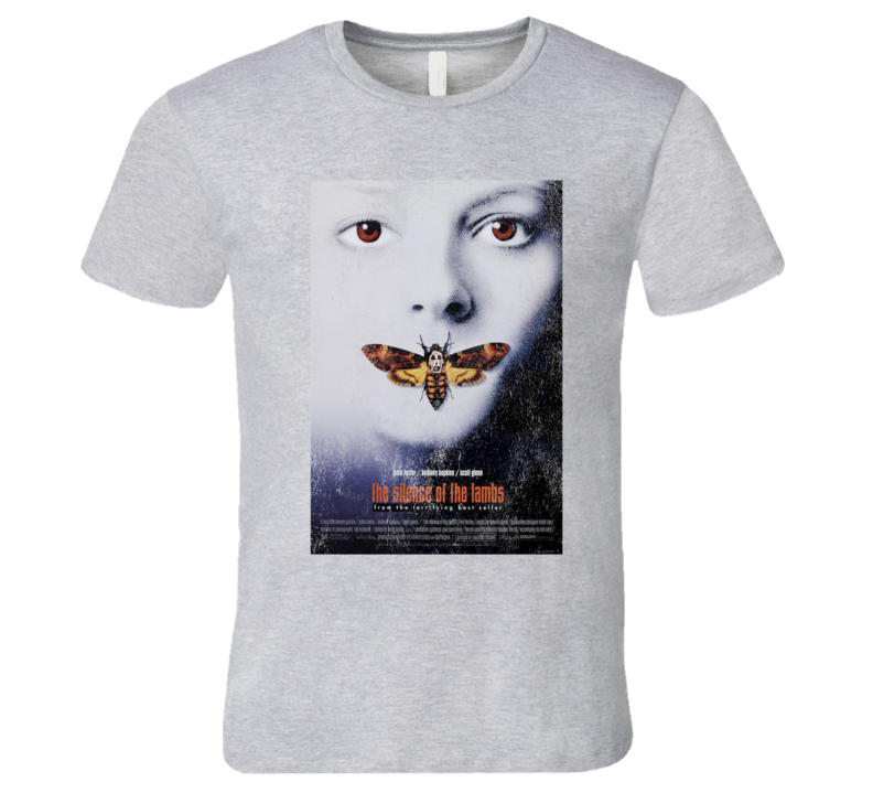 The Silence Of The Lambs Vintage Distressed Scary Movie Poster Halloween T Shirt