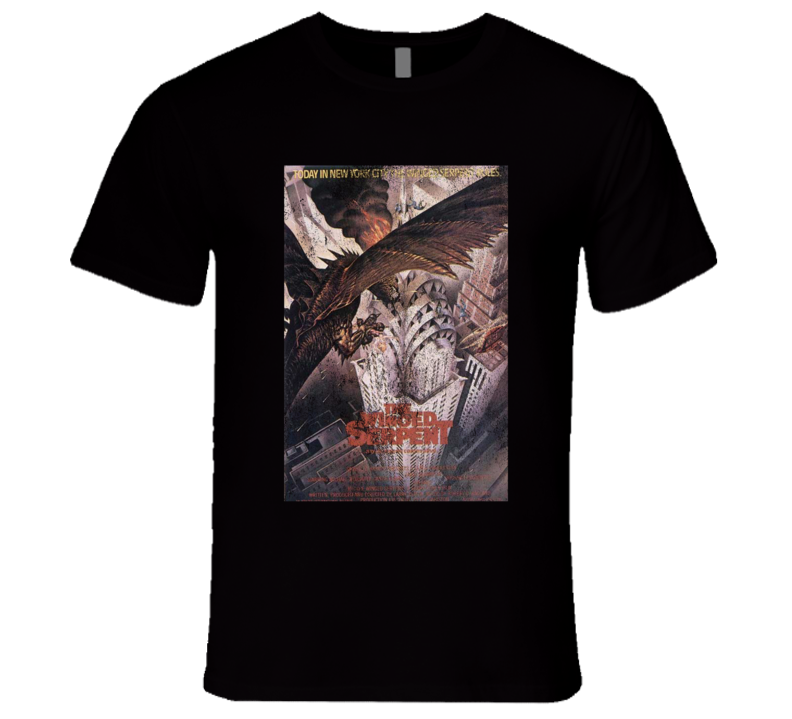 The Winged Serpent Vintage Distressed Scary Movie Poster Halloween T Shirt