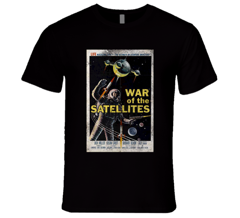 War Of The Satellites Vintage Distressed Scary Movie Poster Halloween T Shirt