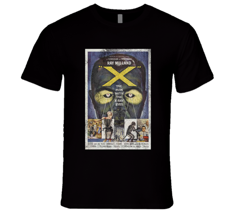 X Vintage Distressed Scary Movie Poster Halloween T Shirt