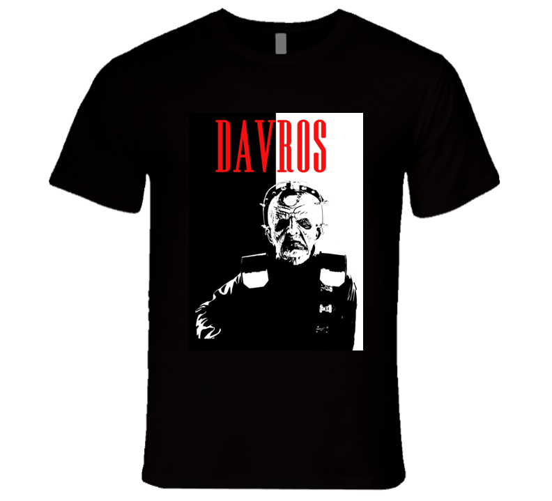 Davros Doctor Who Scary Show Character Parody Poster Halloween T Shirt