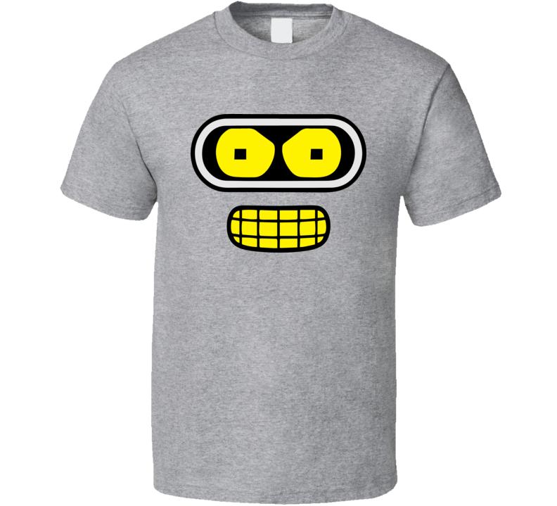 Bender Face Futurama Animated TV Character Simple Halloween Costume T Shirt