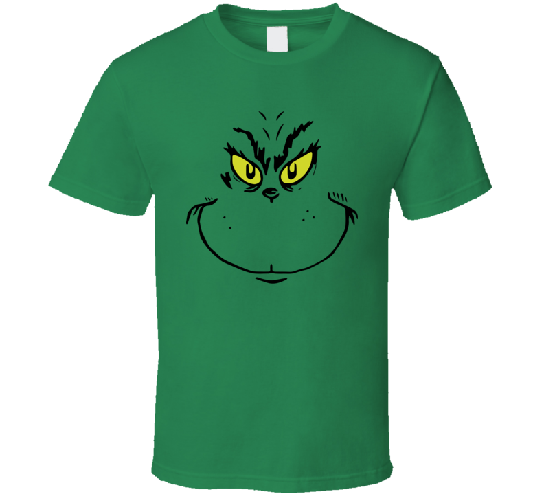 The Grinch Face Christmas Move Simple Halloween Costume T Shirt