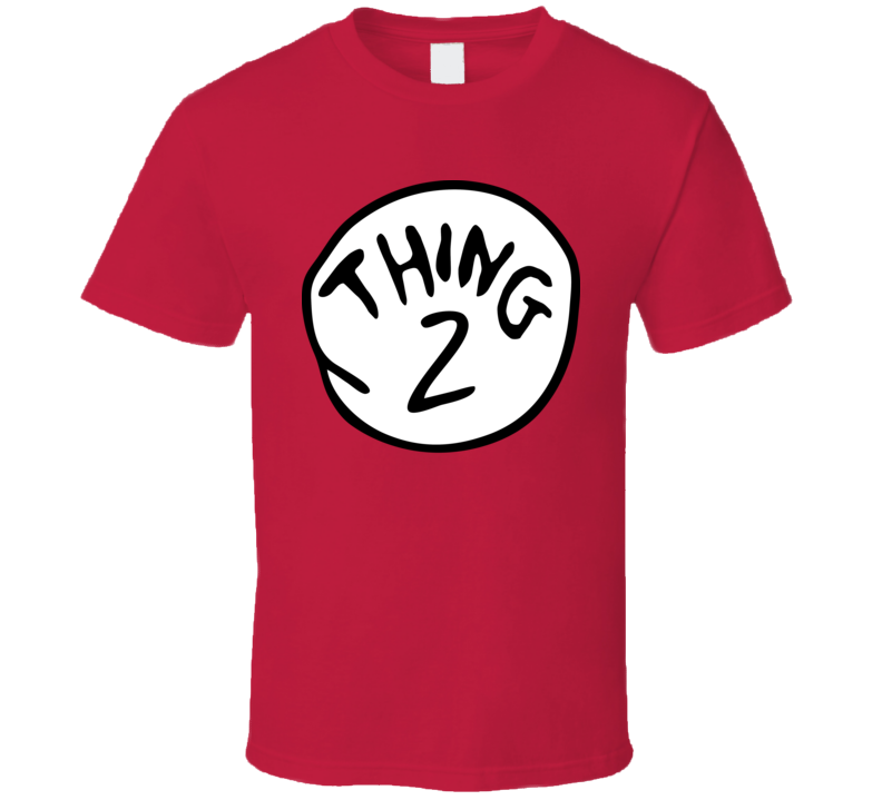 Thing 2 The Cat In The Hat Dr Seuss Group Halloween Costume T Shirt