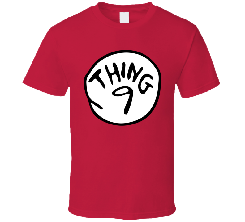 Thing 9 The Cat In The Hat Dr Seuss Group Halloween Costume T Shirt