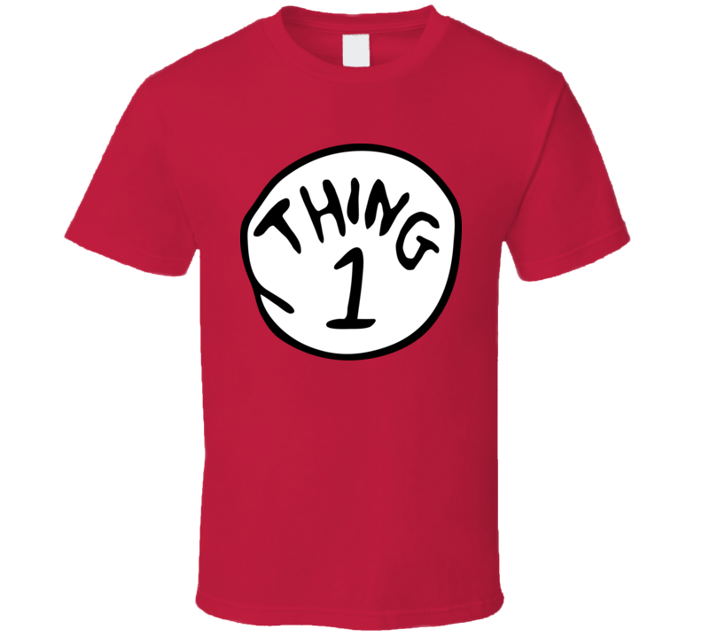 Thing 1 The Cat In The Hat Dr Seuss Group Halloween Costume T Shirt