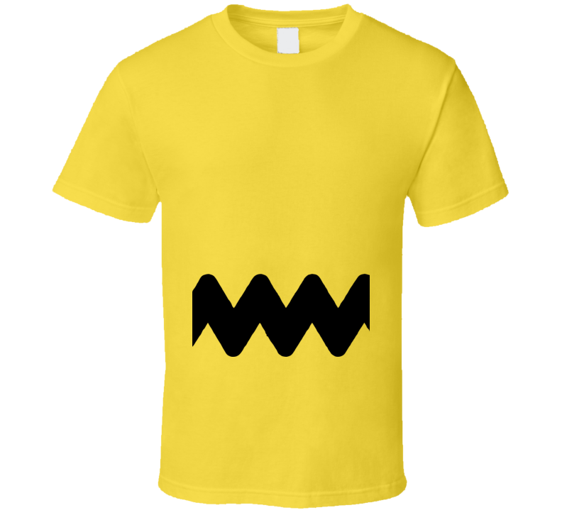 Charlie Brown Peanuts Cartoon Comic Halloween Costume T Shirt