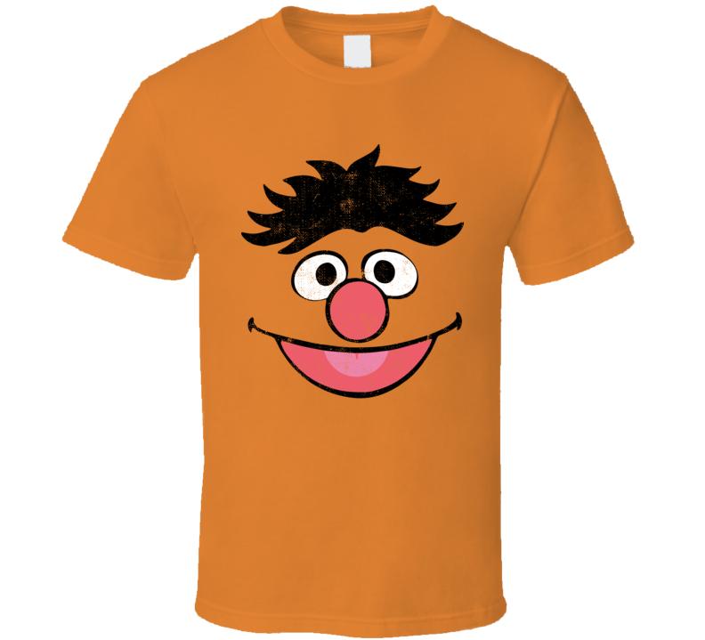 Ernie Face Sesame Street Character Face Halloween T Shirt