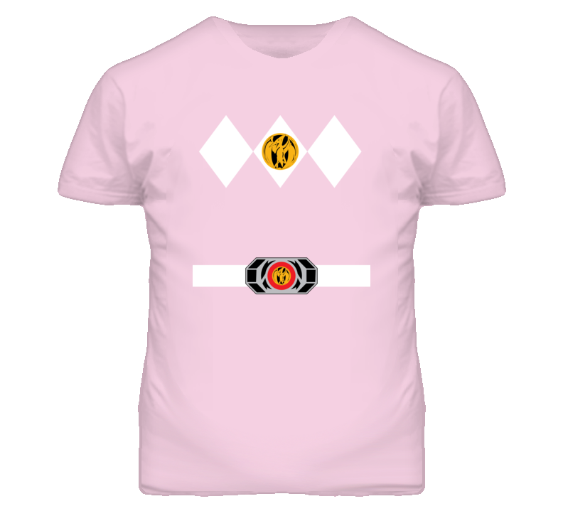 Pink Power Ranger Uniform Halloween Costume T Shirt