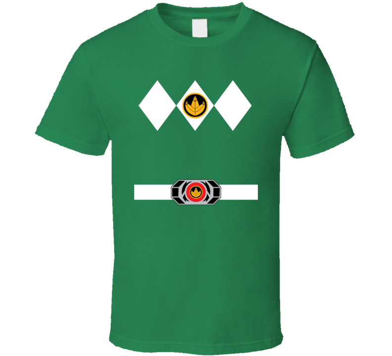 Green Power Ranger Uniform Halloween Costume T Shirt