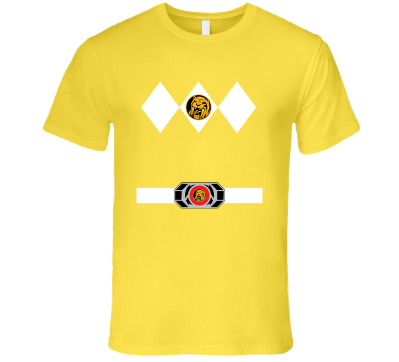 Yellow Power Ranger Uniform Halloween Costume T Shirt
