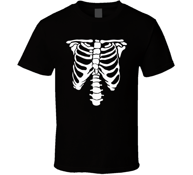 Skeleton Bones Xray Lazy Funny Simple Halloween Costume T Shirt