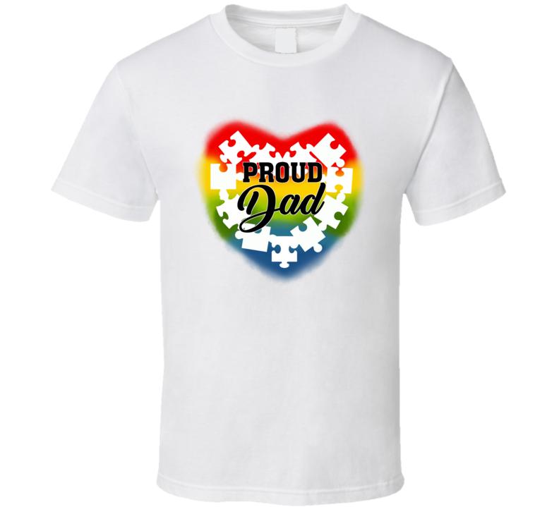 Autism Awareness - Proud Dad T Shirt