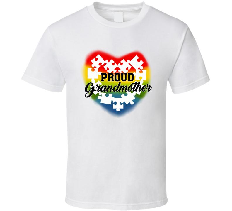 Autism Awareness - Proud Grandmother T Shirt
