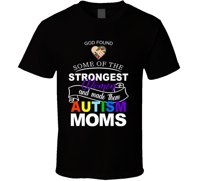 Autism Awareness - Strong Moms (purple) T Shirt
