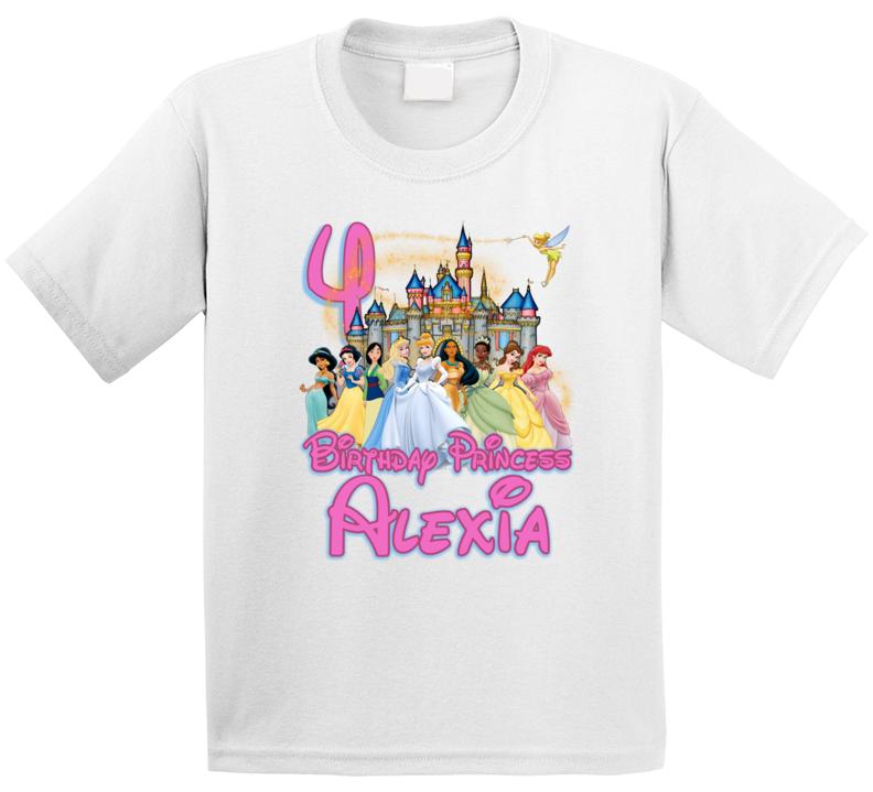 Happy Birthday Disney Princess Customize Name Amp Age T Shirt