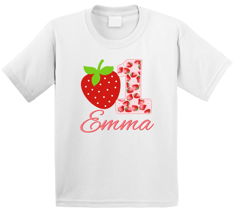 Strawberry Theme 1st Birthday T Shirt