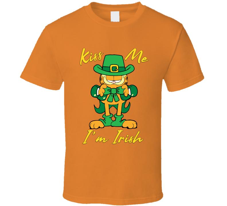 Garfield The Cat Kiss Me I'm Irish T Shirt