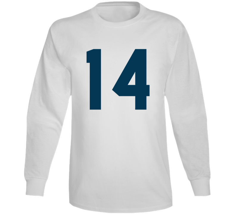 Whitby Fc United Soccer #14 Jersey (back) Long Sleeve