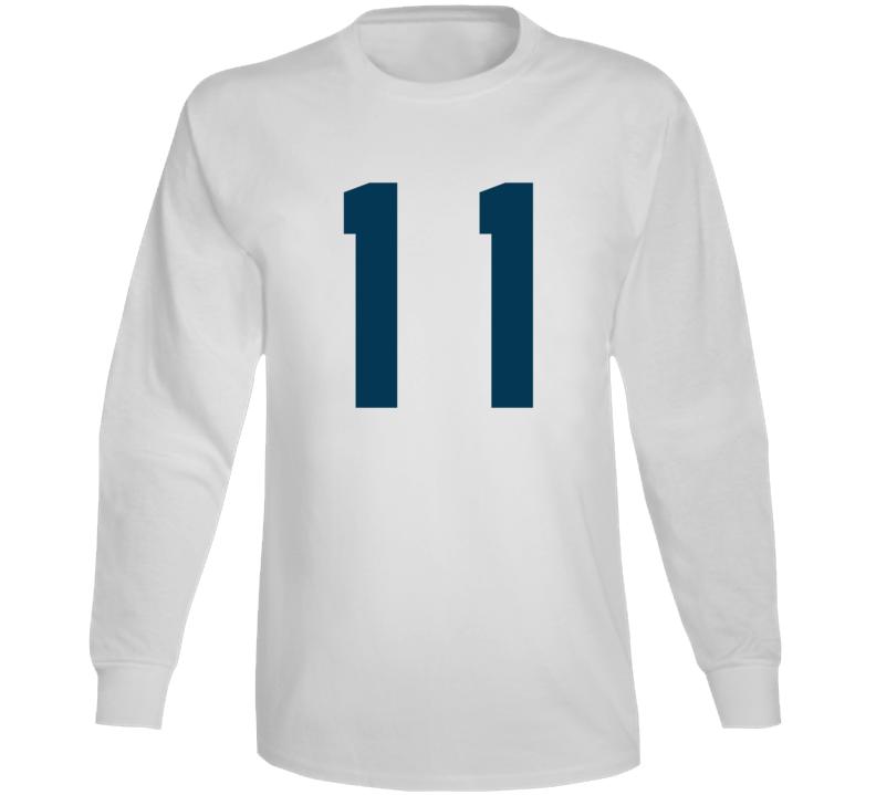 Whitby Fc United Soccer #11 Jersey (back) Long Sleeve