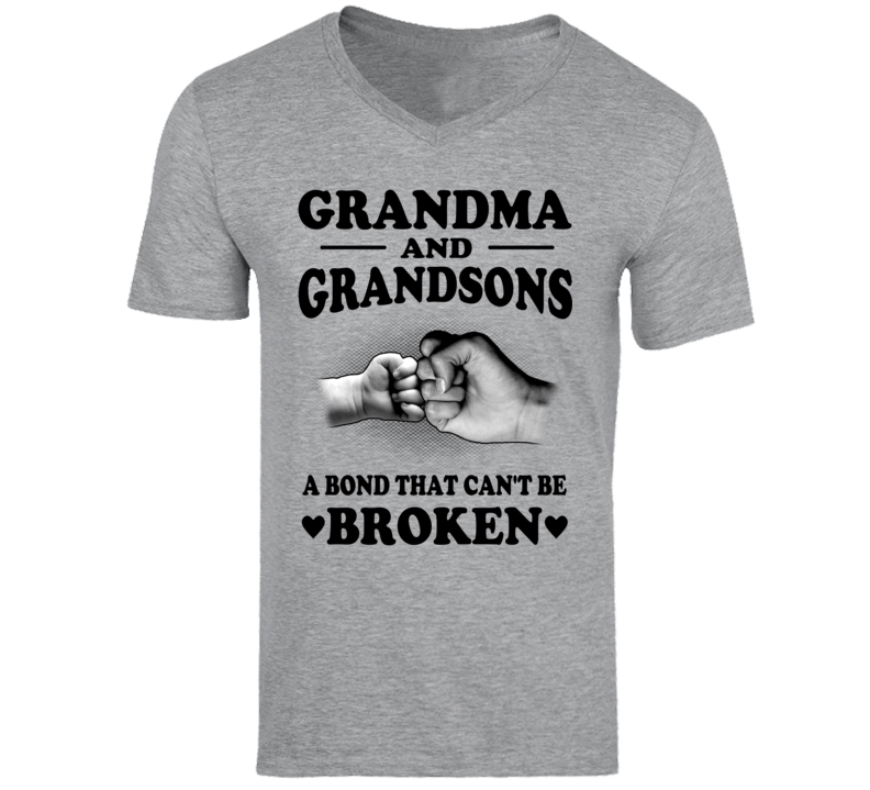 Grandma & Grandsons A Bond That Can't Be Broken T Shirt