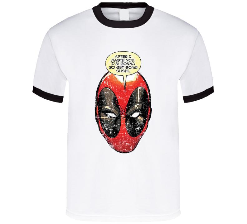 Deadpool Going For Sushi T Shirt