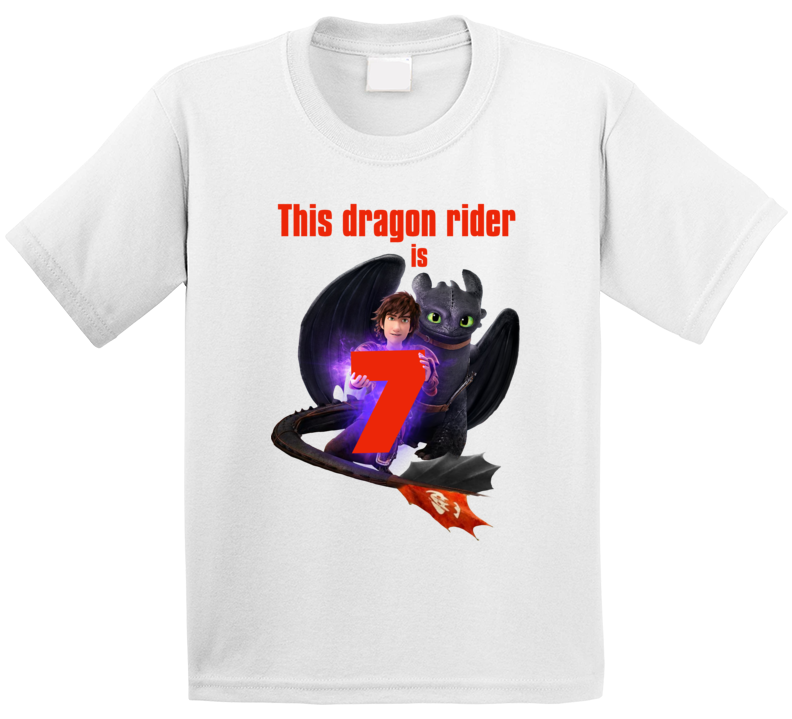 This Dragon Rider Is 7 Birthday How To Train Your Dragon T Shirt