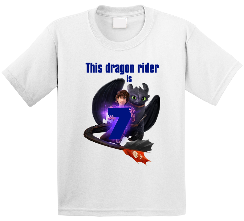 How To Train Your Dragon Toothless & Hiccup Birthday T Shirt