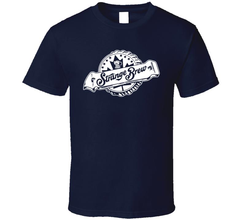 Strange Brew Movie Poster Beer Opener Logo T Shirt