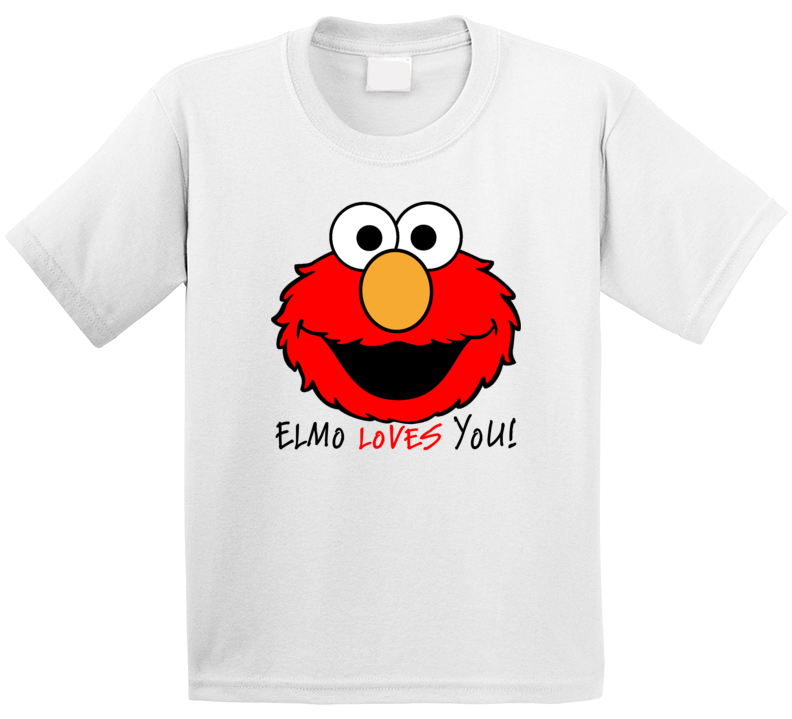 Elmo Loves You Sesame Street Character T Shirt