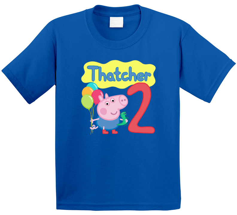 George Peppa Pig - Birthday Name And Age T Shirt