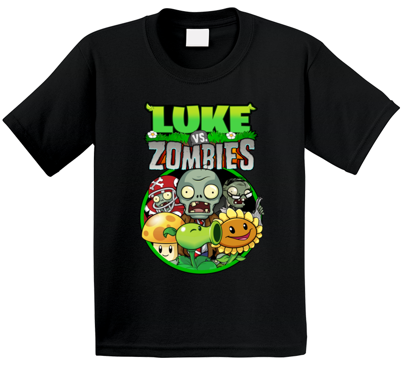Plants Vs Zombies Family Birthday Child  T Shirt
