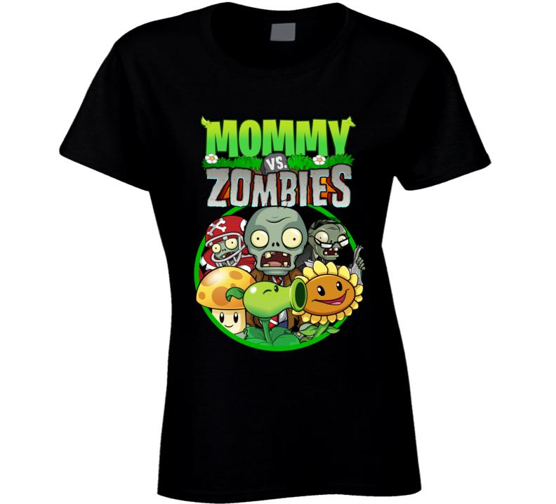 Plants Vs Zombies Family Birthday Party Mommy T Shirt