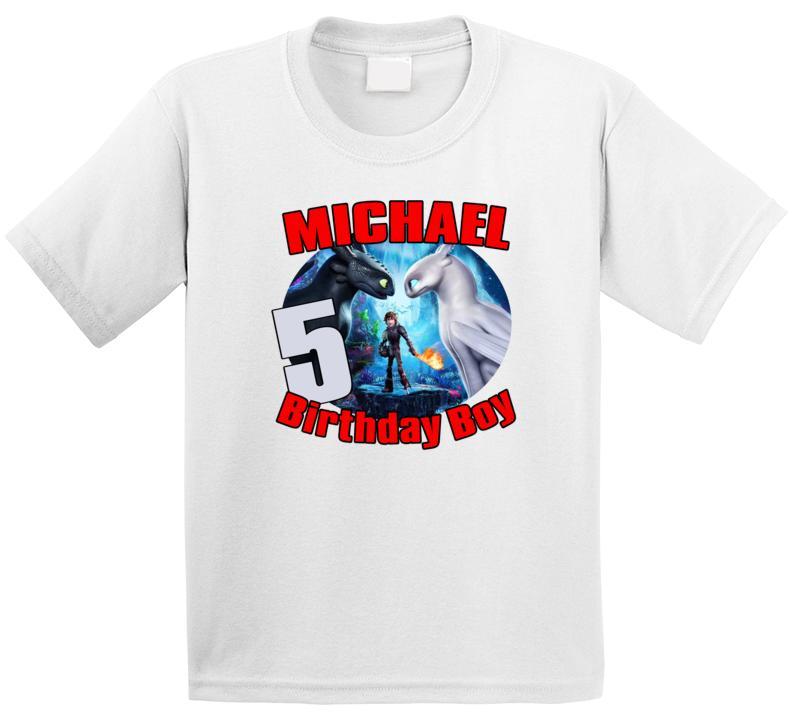 How To Train Your Dragon Birthday Boy T Shirt