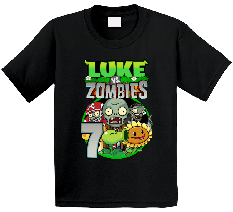 Plants Vs Zombies Family Birthday Child (customizable With Name & Age) T Shirt