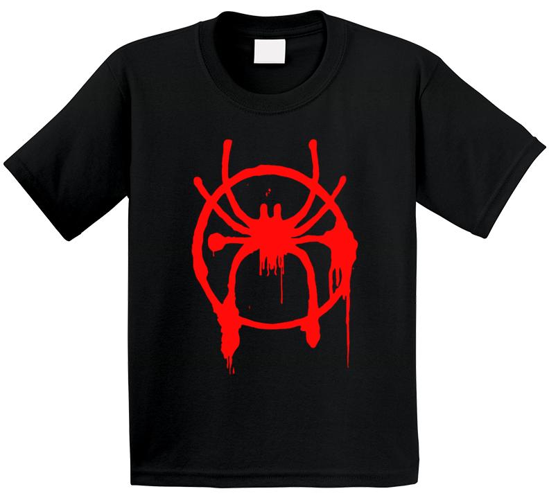 Miles Morales Spider Logo Spider-man Into Spider-verse T Shirt