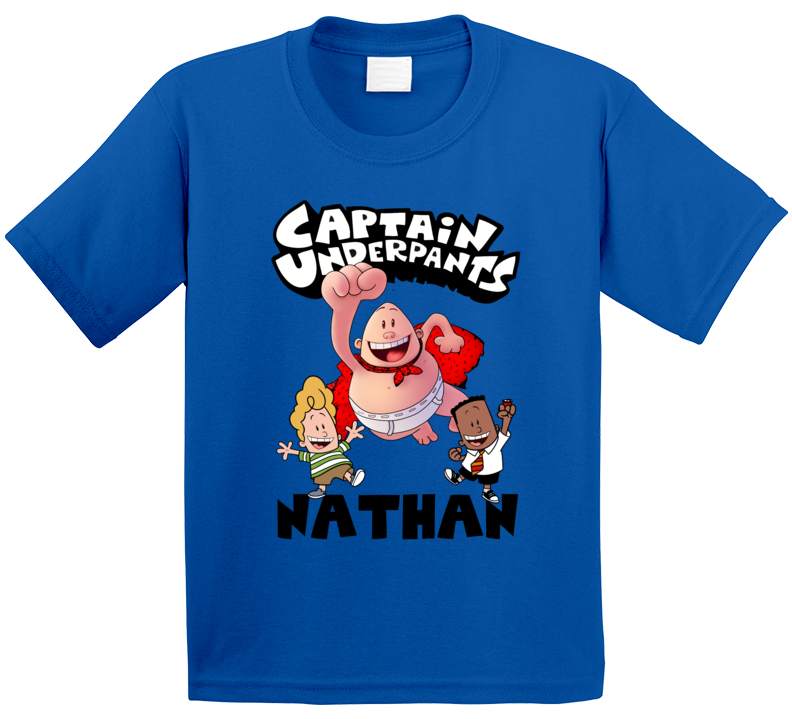 Captain Underpants With Custom Name T Shirt
