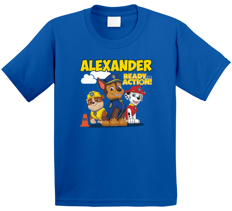 Paw Patrol Alexander Ready For Action T Shirt