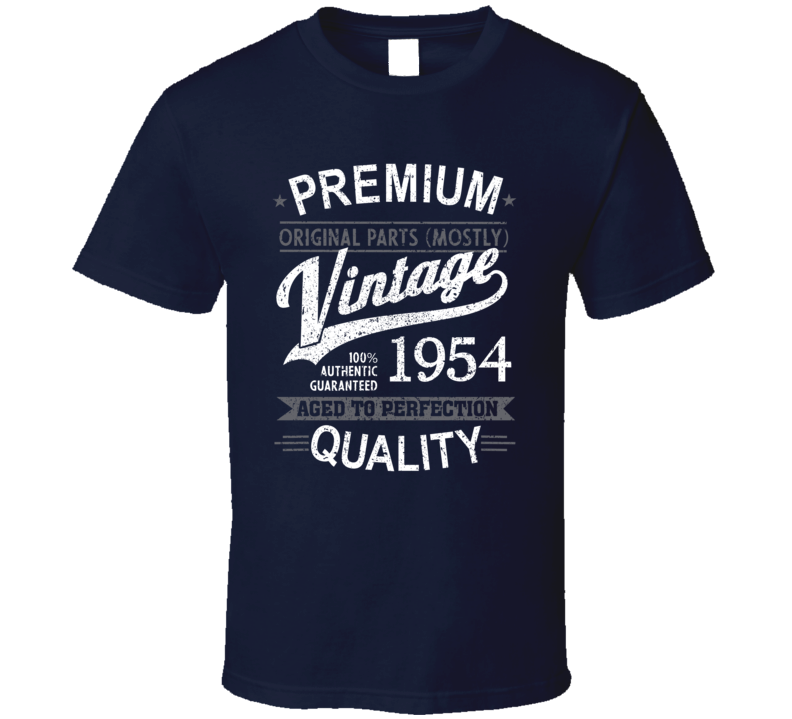 Vintage 1954 Aged To Perfection T Shirt