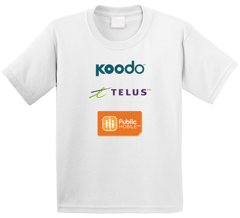 Telecommunications Koodo Telus Public Mobile T Shirt