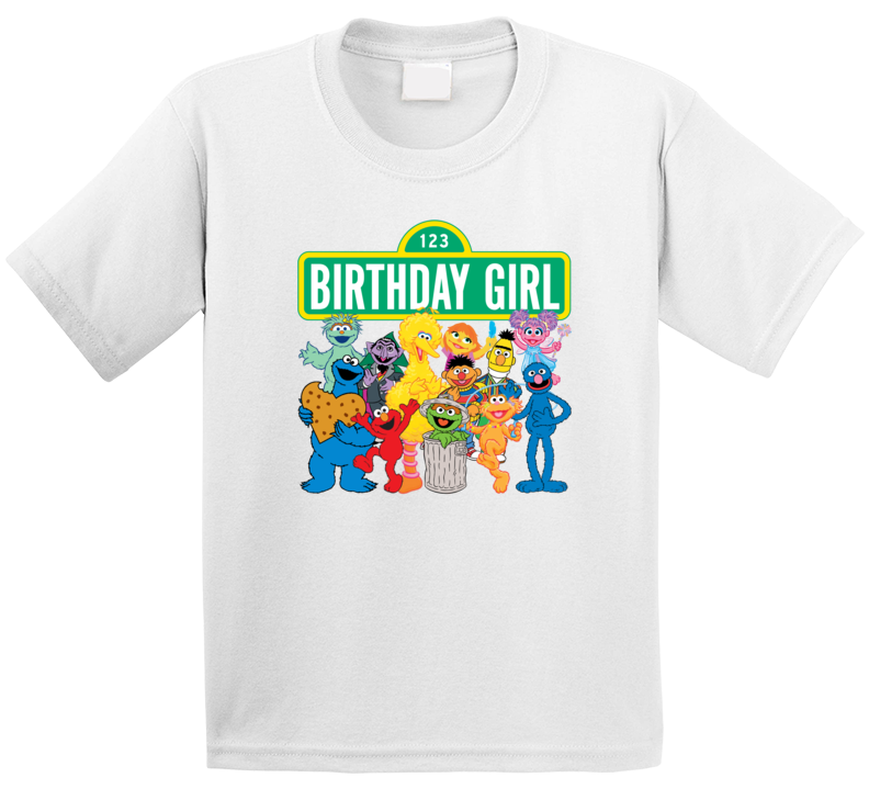 Sesame Street Birthday Girl T Shirt