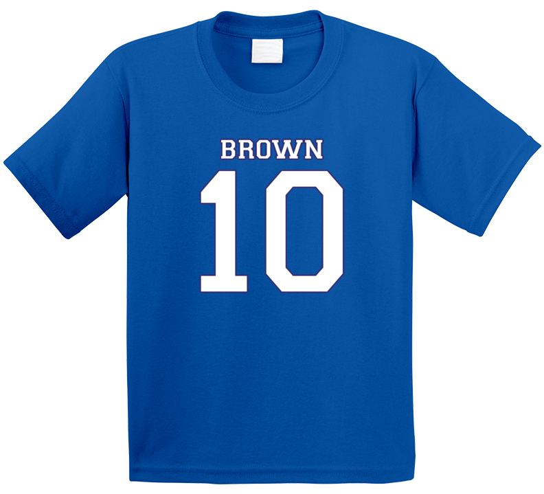 Whitby Chiefs Jersey (back) - Brown 10 B  T Shirt