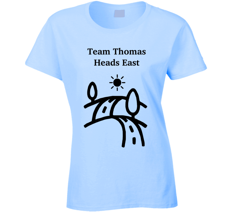 Team Thomas Heads East Ladies T Shirt